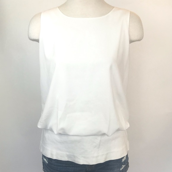 CAbi Tops - Cabi size S white tank with peplum layer